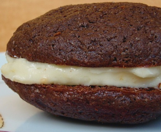 Cream cheese is a stunner as an icing and frosting. Here it is used to fill whoopie pies