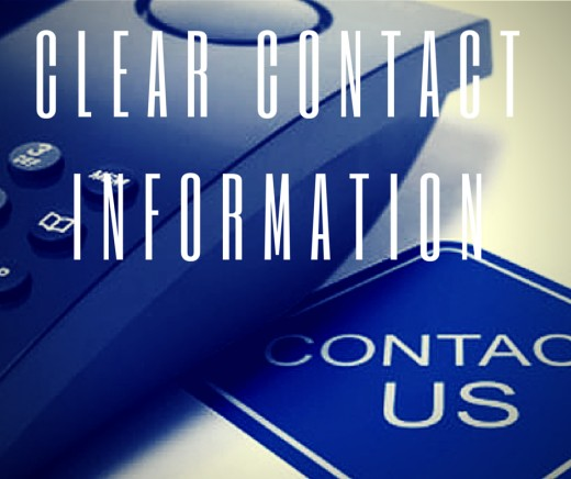 Have A Clear Contact Information