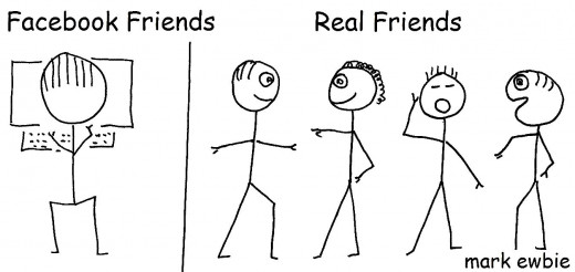 Facebook friends versus real live friends
