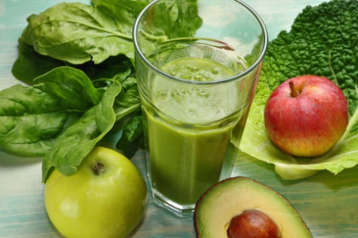 The famous green smoothies are healthy and are full of fiber and vitamins