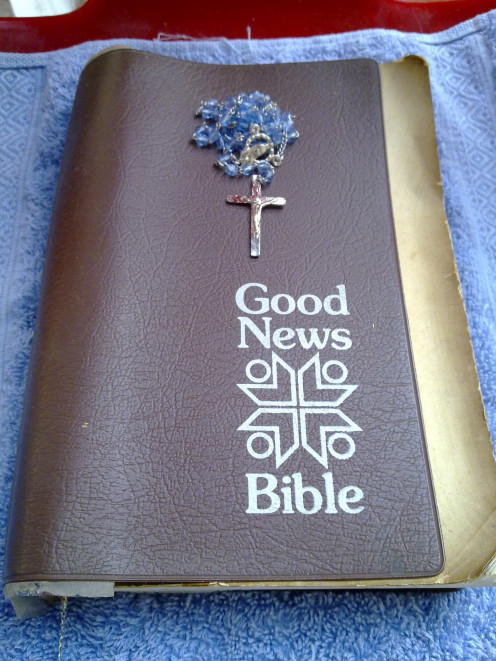 Read the bible and ray the rosary on Easter Day