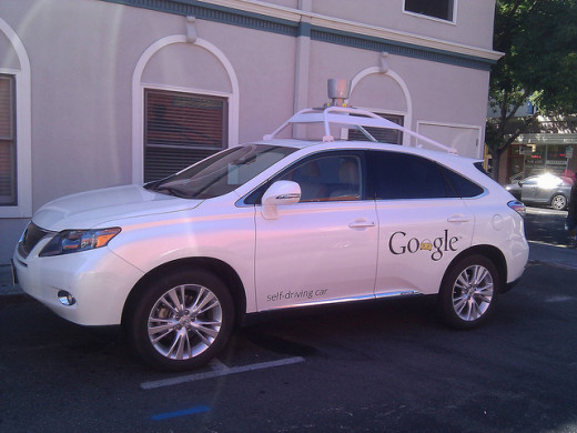 A later version of Google's self-driving car