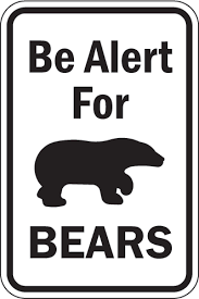 Be sure to obey the signs in a campground