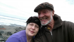 At a undisclosed location somewhere near Yachats Oregon, the love of my life.