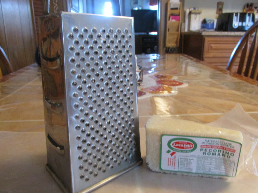 Box Grater with cheese