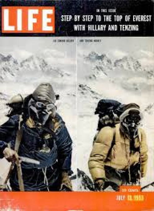 LIFE magazine did a huge spread on Hillary's conquest of Everest