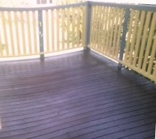 Sometimes we need to re-nail or replace some of the timber boards on patios and then paint them