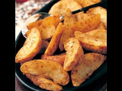 Spicy potato wedges.