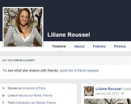 On Facebook, this scammer used a photo of Nikki Sims.