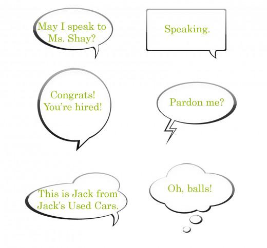 A phone conversation about a job