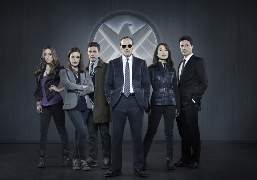 "Skye, the leftmost person in this ""Agents of S.H.I.E.L.D."" character poster, was eventually revealed to be a powerful Inhuman named Daisy ""Quake"" Johnson."