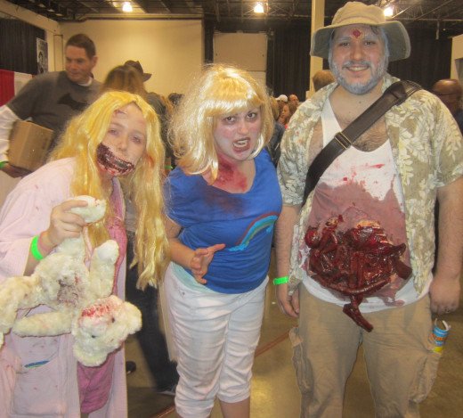 If you're a Walking Dead fan then you should recognize these characters, recurring cosplayers at Motor City Comic Con.
