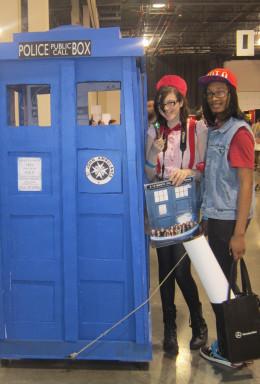 The TARDIS makes a stop at Motor City Comic Con!