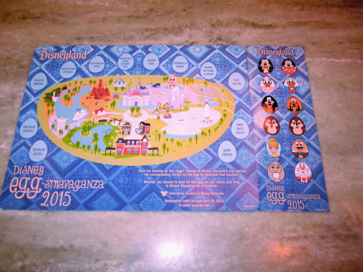 The Easter egg hunt map and stickers.