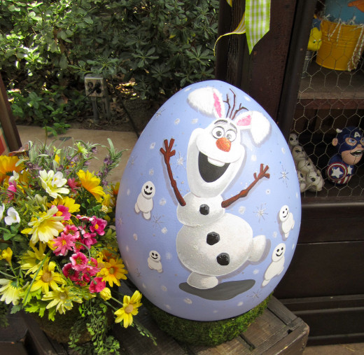 Olaf bunny egg in Thunderland Ranch.