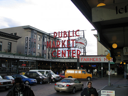 Main entrance to the Pike Place Market