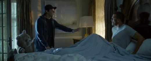 Seth MacFarlane, Mark Wahlberg and Tom Brady in Ted 2