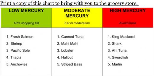 Low Mercury Fish Choices