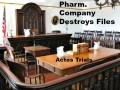 Drug Company Destroyed Files - Agrees to Settlement