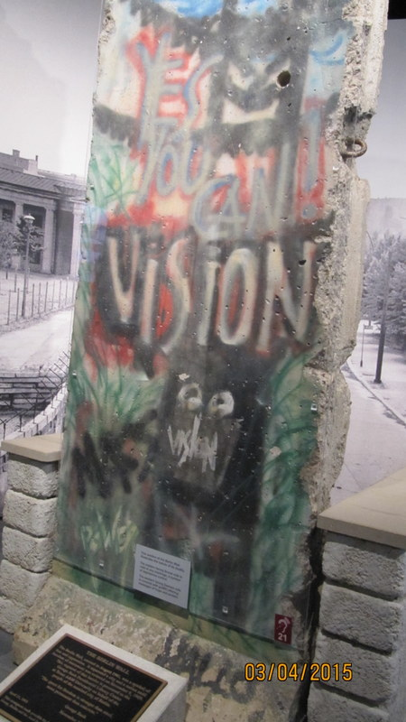 Segment of Berlin Wall, George H. W. Bush Museum