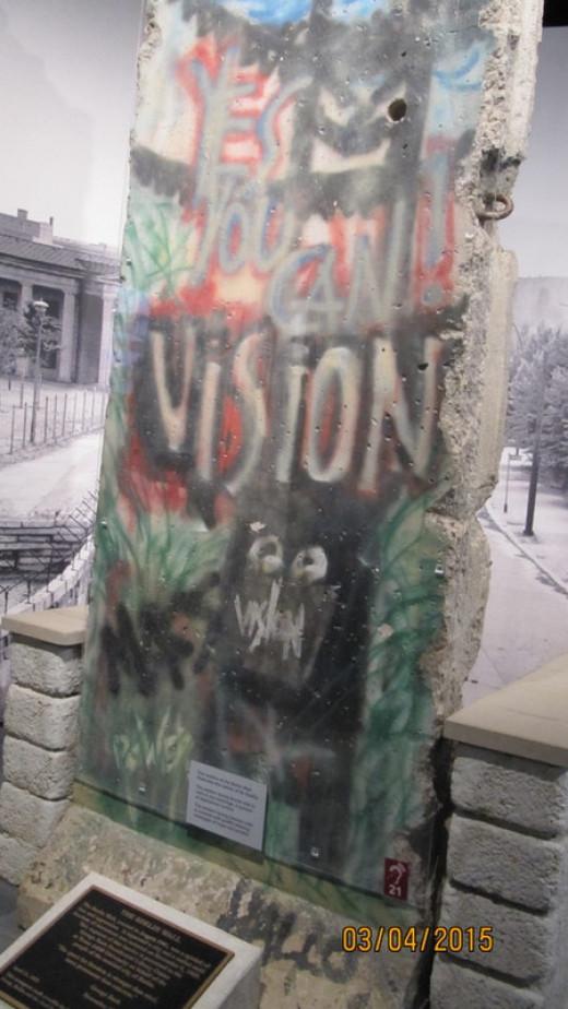 Segment of Berlin Wall, George H. W. Bush Museum
