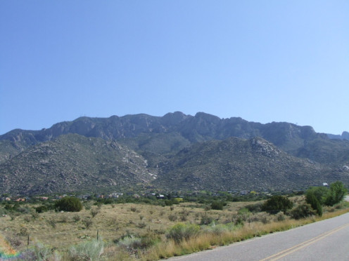 The Sandia Mountains. A person could get lost in a sky like that!