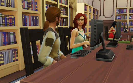 They seem to be hitting it off. He responds well to her chatting with him. Ishmael is the librarian.