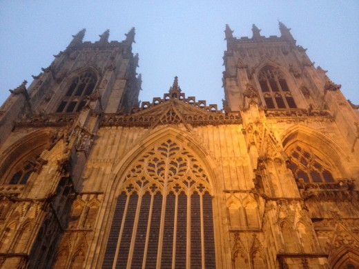York minster dominates the town and is open to the public