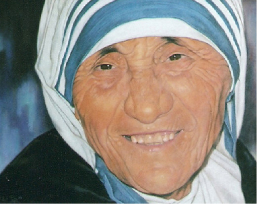 Mother Teresa of Calcuta, portrait painting by Robert Pérez Palou.