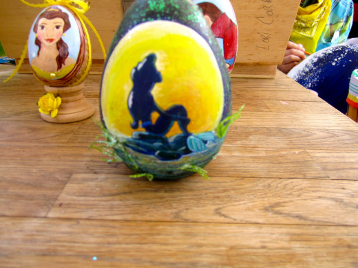 Little Mermaid painted egg.