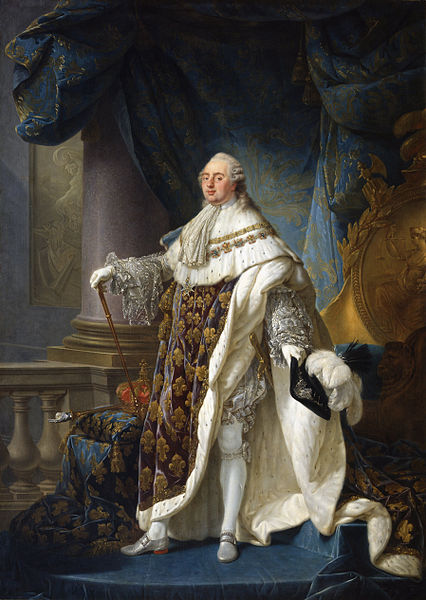 Antoine-François Callet, King Louis XVI, 1779, in his Grand Royal apparel.