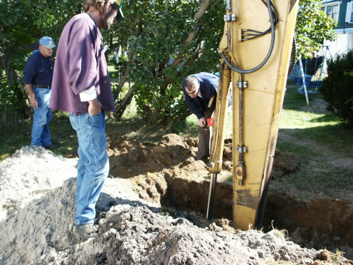 Septic system inspection.