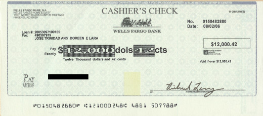 You can often cancel a personal check, but not a cashier's check.