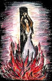 unlike Jephthah's daughter the witches, believers of other faiths and non-believers burned at the stake by Christians languished in agony for long periods of time