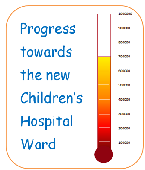 A stunning Thermometer chart created using Excel 2007 or Excel 2010.