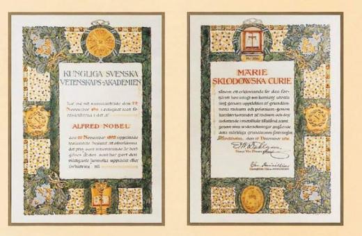 Marie Skłodowska-Curie Nobel Prize Diploma