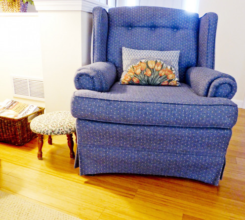 I think Megan would have liked this armchair, even though it doesn't have roses on its cover.