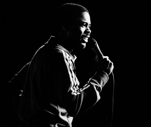 Chris Rock live on-stage.