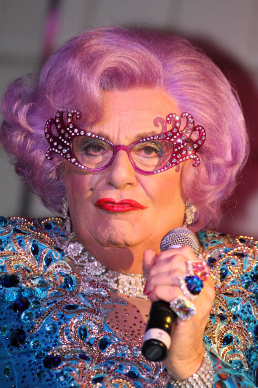 Barry Humphries' very popular Dame Edna Everage.
