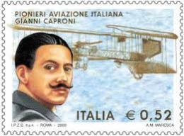 Giovanni Battista Caproni depicted on a modern Italian postage stamp.