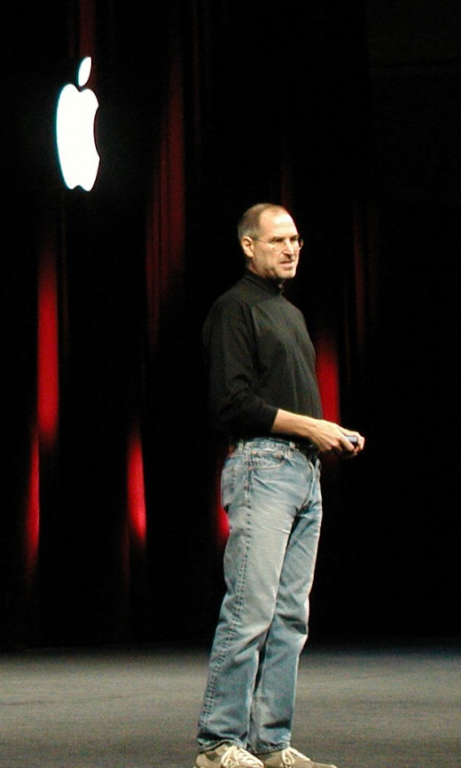 Steve Jobs on stage at Macworld Conference & Expo, San Francisco, January 11, 2005.  It was Jobs who announced the arrival of the first generation MacBook Pro on January 10, 2006, at the Macworld Conference & Expo.  The original Pro was a 15 inch.