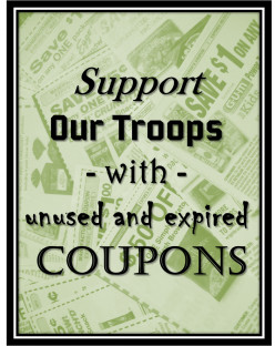Support our troops with unused and expired coupons
