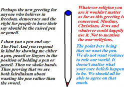 It is better to have the pen rather than the sword.