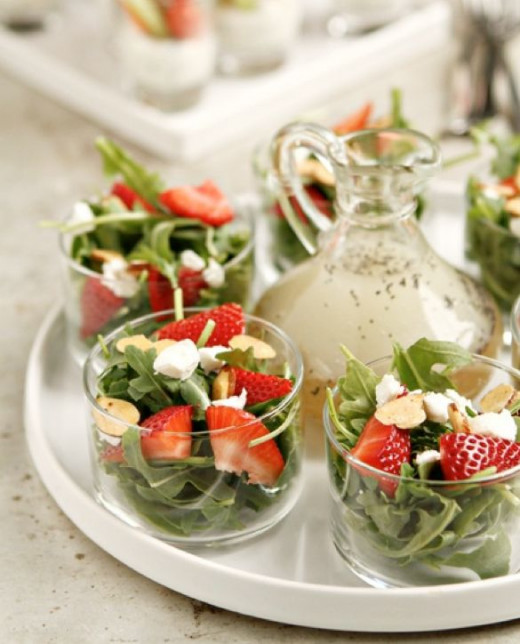 You can also used strawberries in the vegetable salad for that sweet touch.