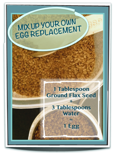 It is easy to put the benefits of ground flax in your baked goods.  Mix up the recipe, let it sit a few minutes, and whether it's for an egg allergy, calories, or taste this replacement works well!