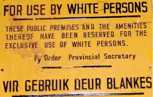 Apartheid sign. Image from Wikipedia
