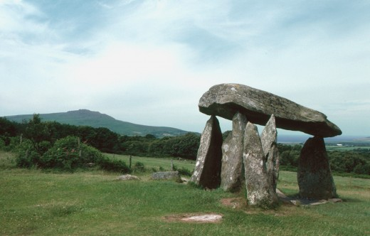 The Portal Tomb of Pentre Ifan in Pembrokeshire, Wales...said to be a tomb but could have been a sacred site to worship the gods at some point.