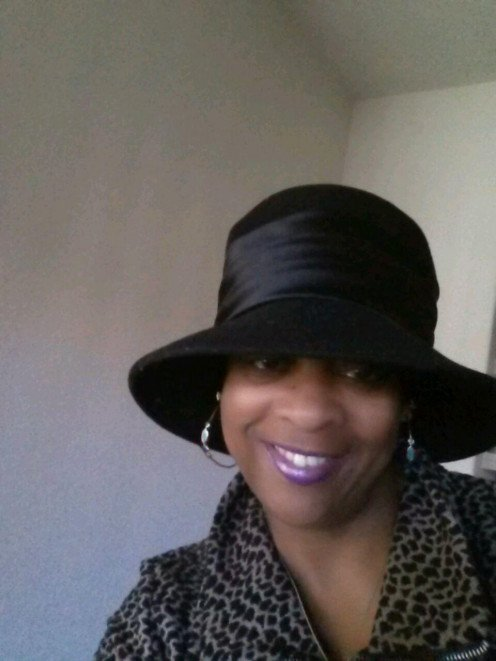 A Stylish hat sleekly worn by  The Diva herself Ms. Vivian.