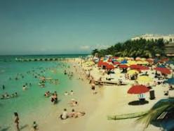 Full-view of the beach.
