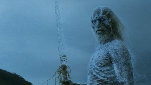 Scary and Deadly frosty creatures that lurk beyond the Wall, ultimate nemesis of the Night Watch Men - The White Walkers.